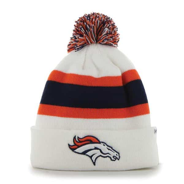 Denver Broncos Breakaway Cuff Knit White 47 Brand Hat