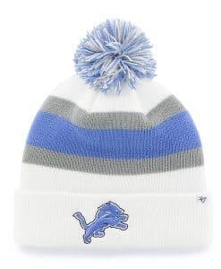 Detroit Lions Breakaway Cuff Knit White 47 Brand Hat