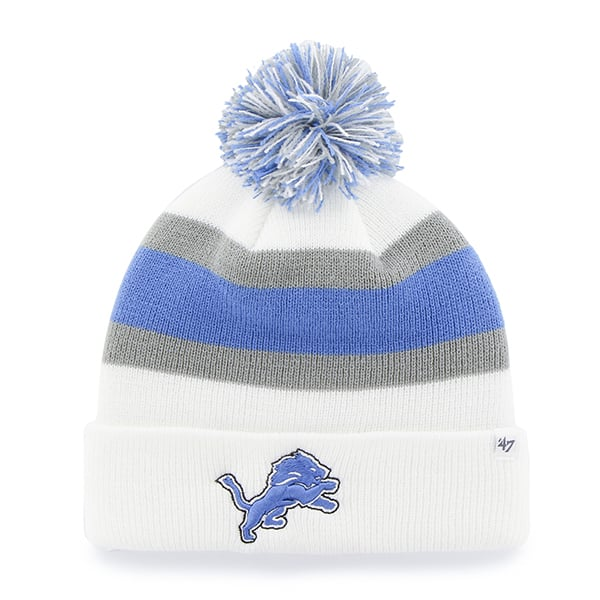 Black 47 NFL Detroit Lions Womens Leslie Knit Beanie with Pom One Size