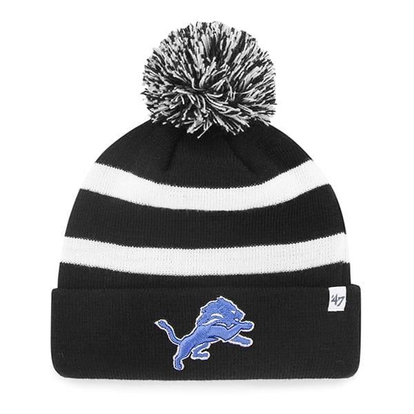 Detroit Lions Breakaway Cuff Knit Black 47 Brand Hat
