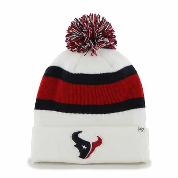 Houston Texans Breakaway Cuff Knit White 47 Brand Hat