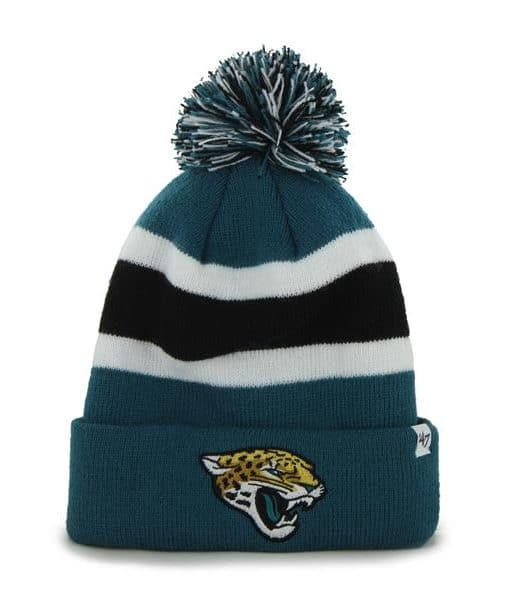 Jacksonville Jaguars Breakaway Cuff Knit Dark Teal 47 Brand Hat