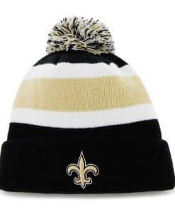 New Orleans Saints Breakaway Cuff Knit Black 47 Brand Hat