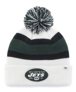 New York Jets Breakaway Cuff Knit White 47 Brand Hat