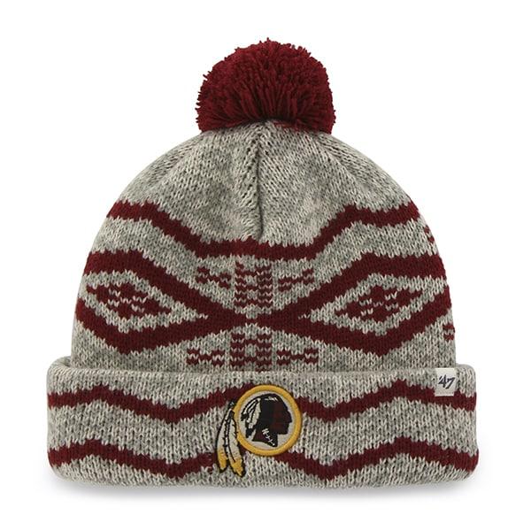 Washington Redskins Brookfield Cuff Knit Gray 47 Brand Hat