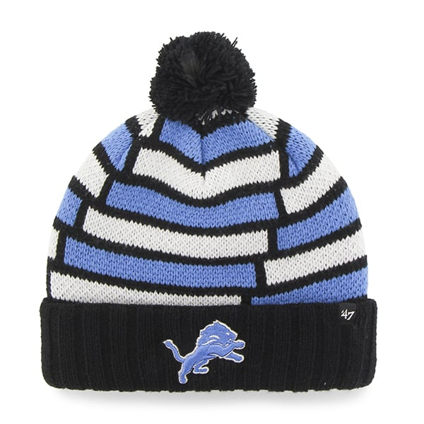 Detroit Lions Breakout Cuff Knit Black 47 Brand Hat
