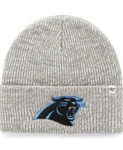 Carolina Panthers Brain Freeze Cuff Knit Gray 47 Brand Hat