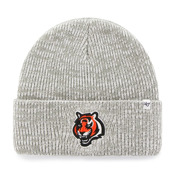 Cincinnati Bengals Brain Freeze Cuff Knit Gray 47 Brand Hat