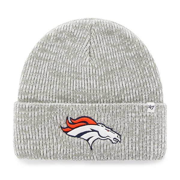 Denver Broncos Brain Freeze Cuff Knit Gray 47 Brand Hat