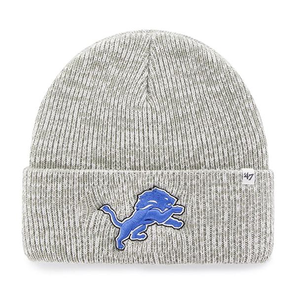 Detroit Lions Brain Freeze Cuff Knit Gray 47 Brand Hat