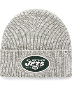 New York Jets Brain Freeze Cuff Knit Gray 47 Brand Hat