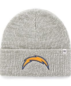 San Diego Chargers Brain Freeze Cuff Knit Gray 47 Brand Hat