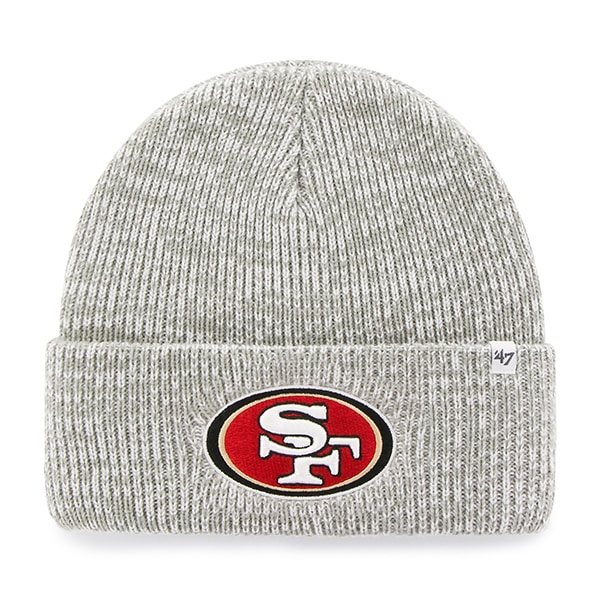 San Francisco 49Ers Brain Freeze Cuff Knit Gray 47 Brand Hat