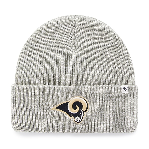Los Angeles Rams Brain Freeze Cuff Knit Gray 47 Brand Hat