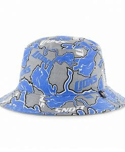 Detroit Lions 47 Brand Gray Blue Bravado Bucket Hat