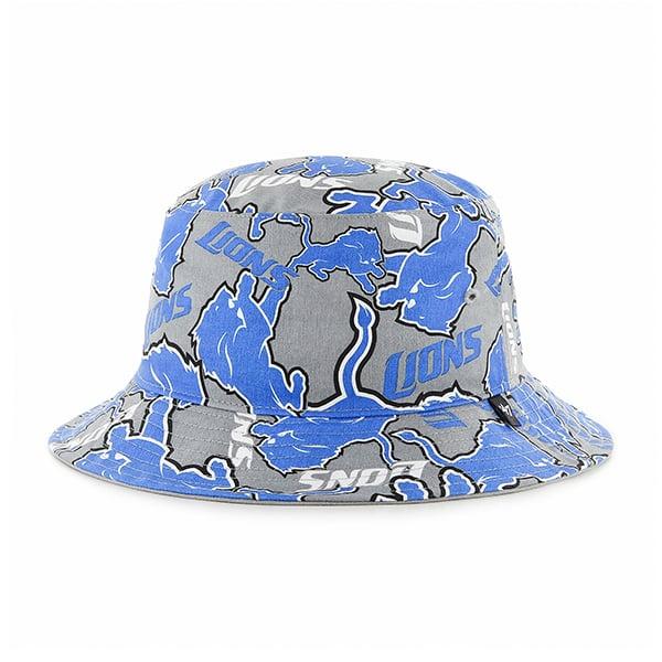 Detroit Lions Bravado Bucket White 47 Brand Hat