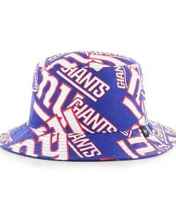 New York Giants Bravado Bucket White 47 Brand Hat