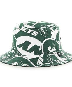 New York Jets Bravado Bucket White 47 Brand Hat