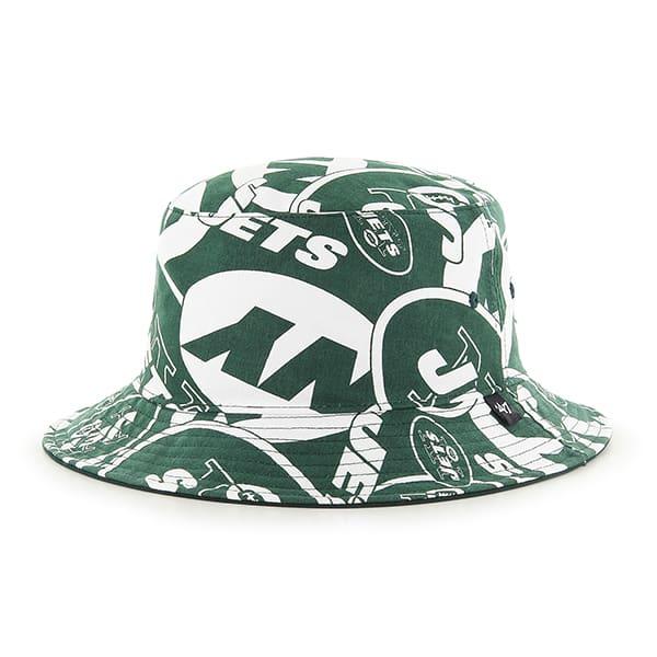 New York Jets Bravado Bucket White 47 Brand Hat