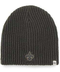 New Orleans Saints Caribou Beanie Charcoal 47 Brand Hat
