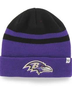Baltimore Ravens Cedarwood Cuff Knit Black 47 Brand Hat