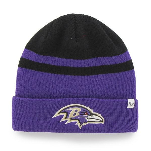 Baltimore Ravens Cedarwood Cuff Knit Black 47 Brand Hat