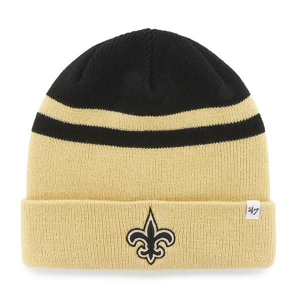 New Orleans Saints Cedarwood Cuff Knit Black 47 Brand Hat