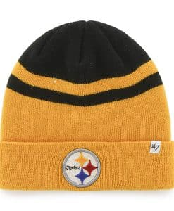 Pittsburgh Steelers Cedarwood Cuff Knit Black 47 Brand Hat