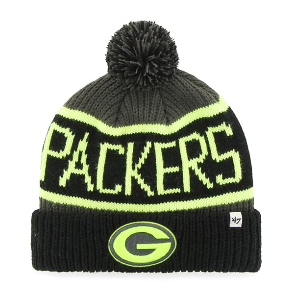 Green Bay Packers Calgary Cuff Knit Charcoal 47 Brand Hat