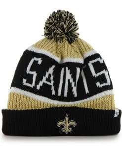 New Orleans Saints Calgary Cuff Knit Light Gold 47 Brand Hat