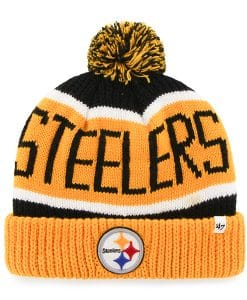 Pittsburgh Steelers Calgary Cuff Knit Black 47 Brand Hat