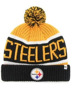 Pittsburgh Steelers Calgary Cuff Knit Gold 47 Brand Hat