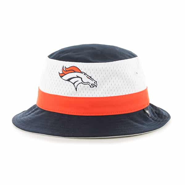 Denver Broncos Double Line Bucket Navy 47 Brand Hat