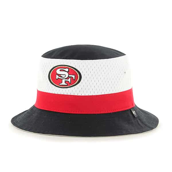 San Francisco 49Ers Double Line Bucket Black 47 Brand Hat