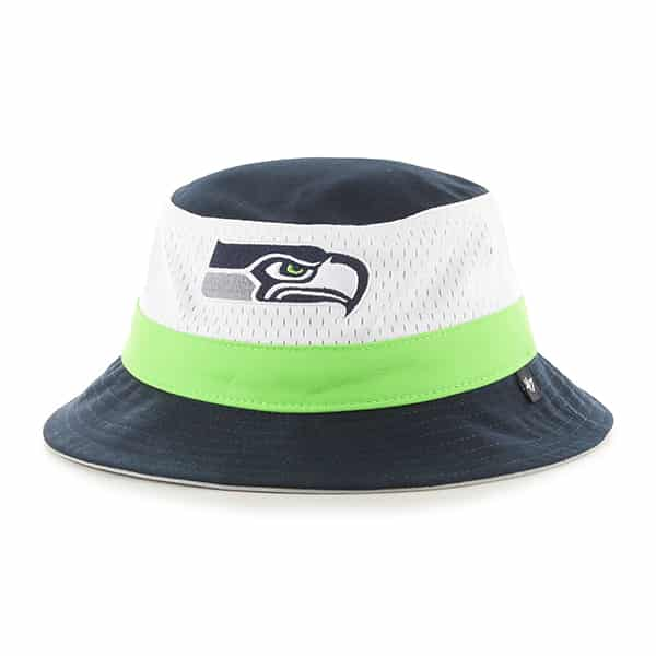 Seattle Seahawks Double Line Bucket Navy 47 Brand Hat