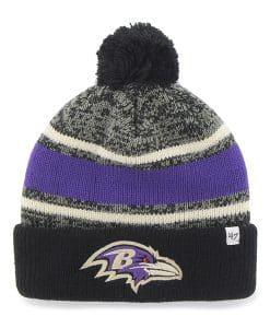 Baltimore Ravens Fairfax Cuff Knit Black 47 Brand Hat