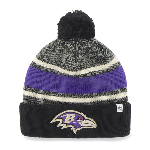 Baltimore Ravens Fairfax Cuff Knit Black 47 Brand Hat