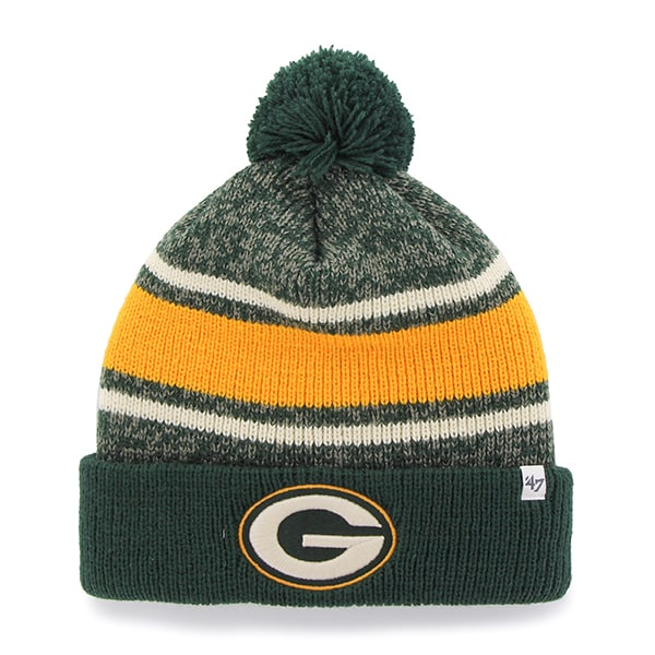 Green Bay Packers Fairfax Cuff Knit Dark Green 47 Brand Hat