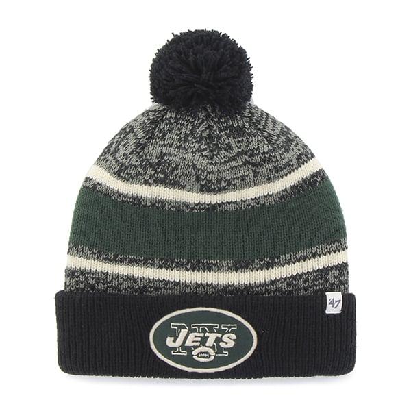 New York Jets Fairfax Cuff Knit Black 47 Brand Hat