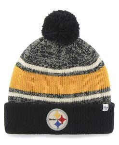 Pittsburgh Steelers Fairfax Cuff Knit Black 47 Brand Hat