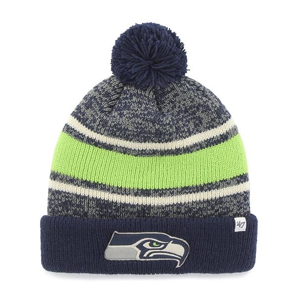 Seattle Seahawks Fairfax Cuff Knit Light Navy 47 Brand Hat