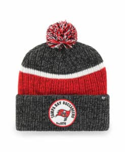 Tampa Bay Buccaneers 47 Brand Holcomb Black Red Cuff Knit Hat