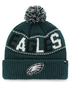 Philadelphia Eagles Jumble Cuff Knit Pacific Green 47 Brand Hat