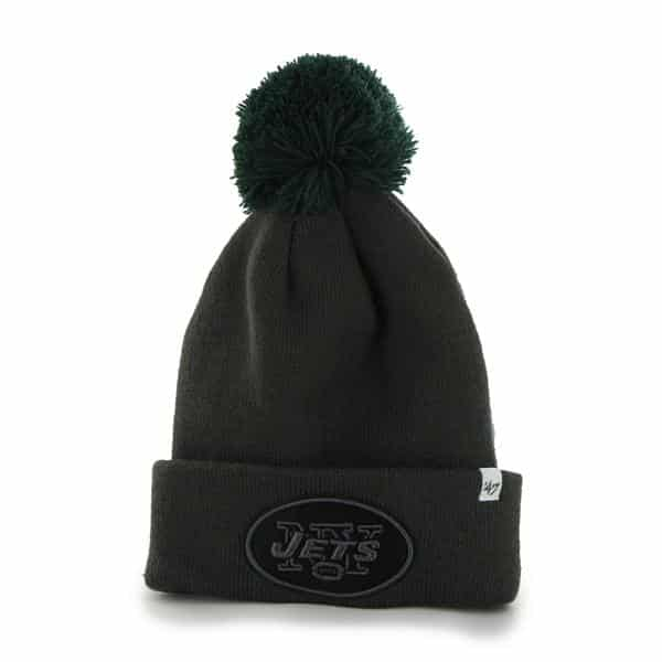 New York Jets Justus Cuff Knit Charcoal 47 Brand Hat