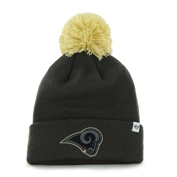 Los Angeles Rams Justus Cuff Knit Charcoal 47 Brand Hat