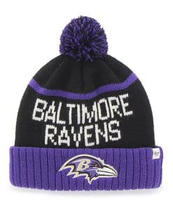Baltimore Ravens Linesman Cuff Knit Black 47 Brand Hat