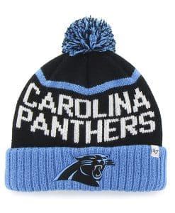Carolina Panthers Linesman Cuff Knit Black 47 Brand Hat