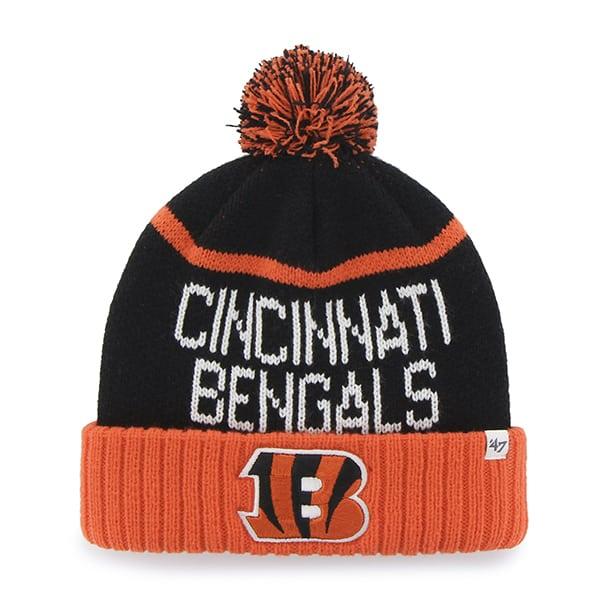 Cincinnati Bengals Linesman Cuff Knit Black 47 Brand Hat
