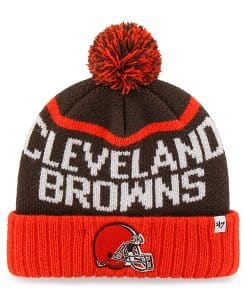Cleveland Browns Linesman Cuff Knit Brown 47 Brand Hat