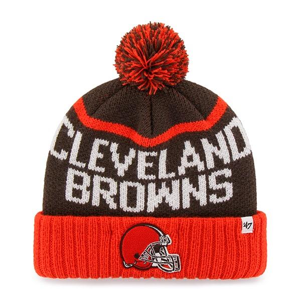 Cleveland Browns Linesman Cuff Knit Brown 47 Brand Hat